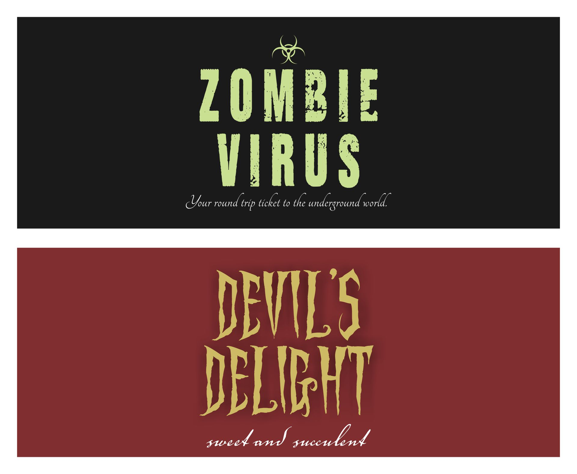 Printable Halloween Soda Labels