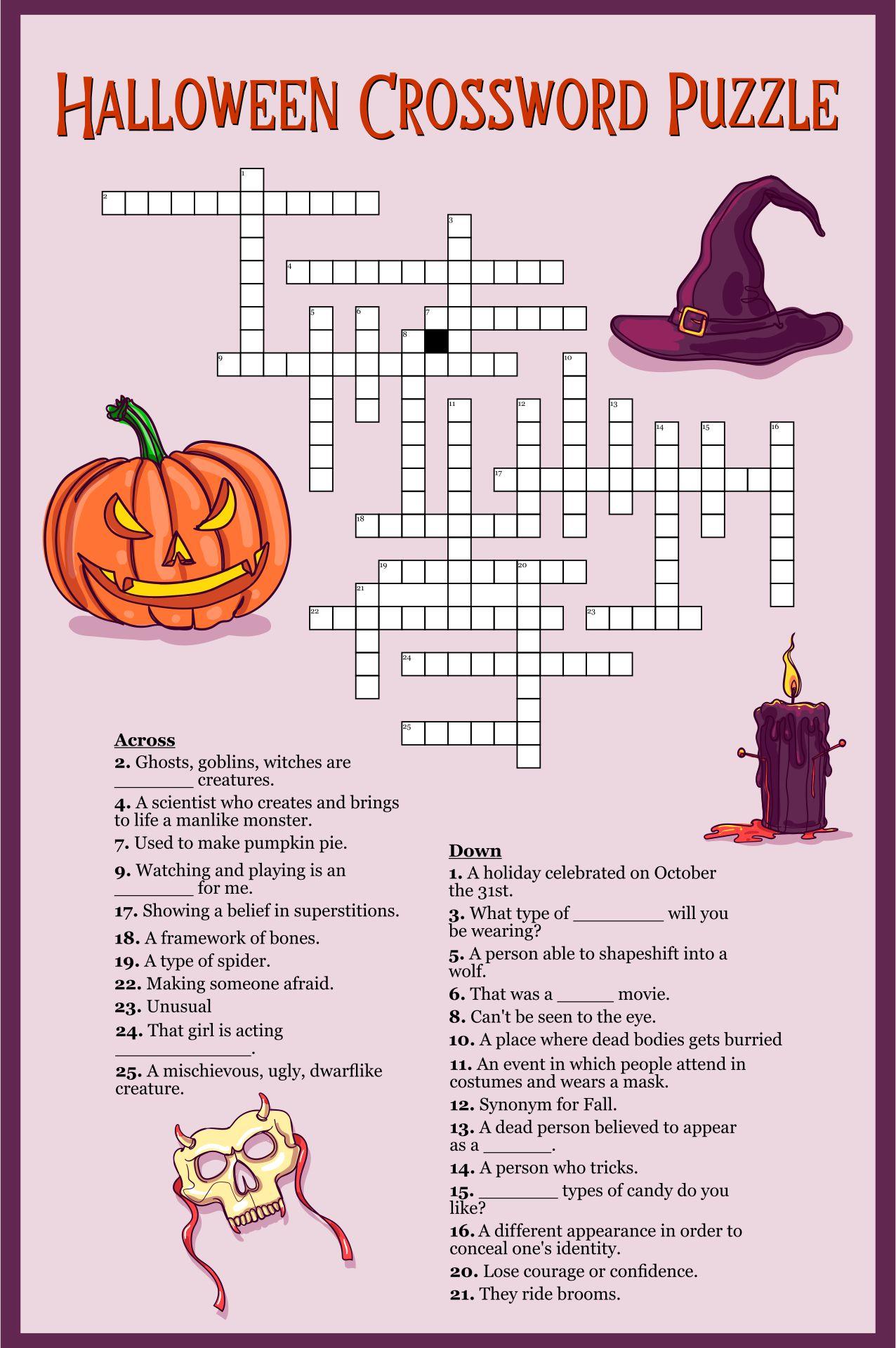 Printable Halloween Worksheets for Teachers