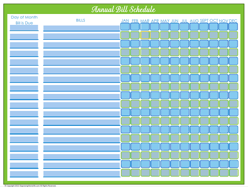 7 Images of Printable Bill Payment Schedule