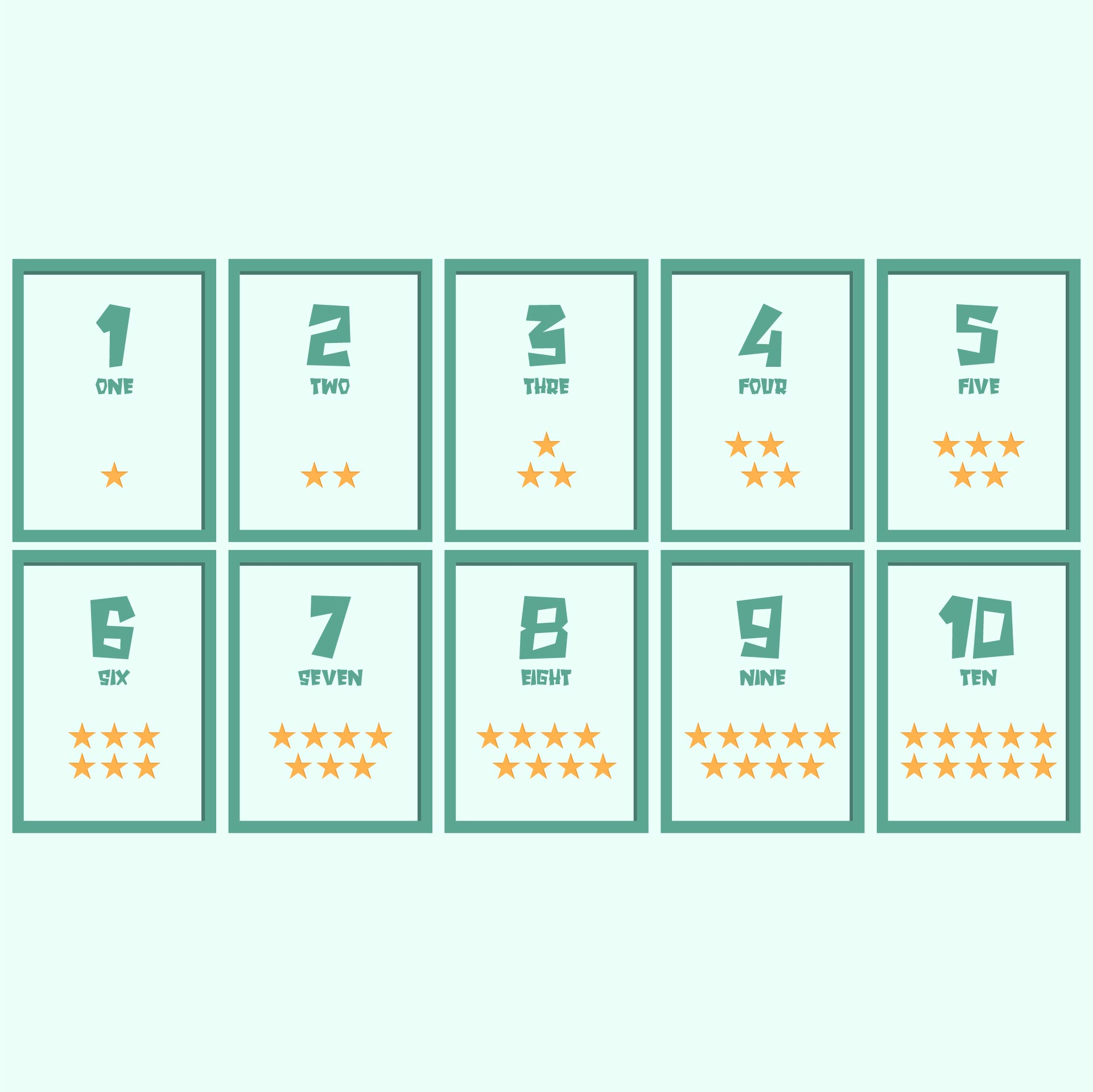 7 Images of Number Flashcards 1 100 Printable