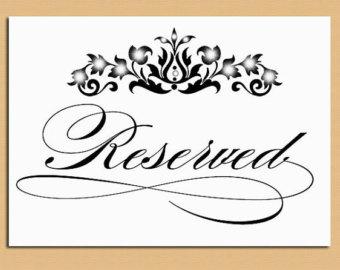 6 best images of room reserved sign printable conference. Black Bedroom Furniture Sets. Home Design Ideas