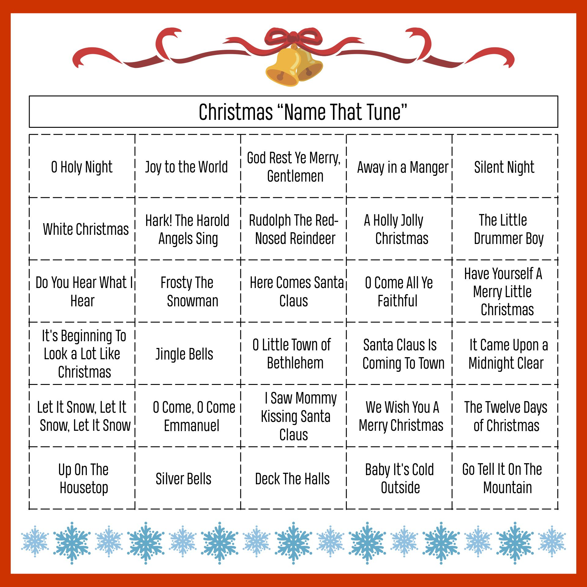 Printables Christmas Name That Tune Game