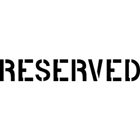 Room Reserved Sign Template Word