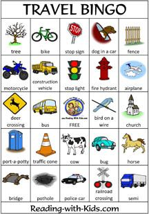 7 Images of Pieces Of Cars Printable Bingo