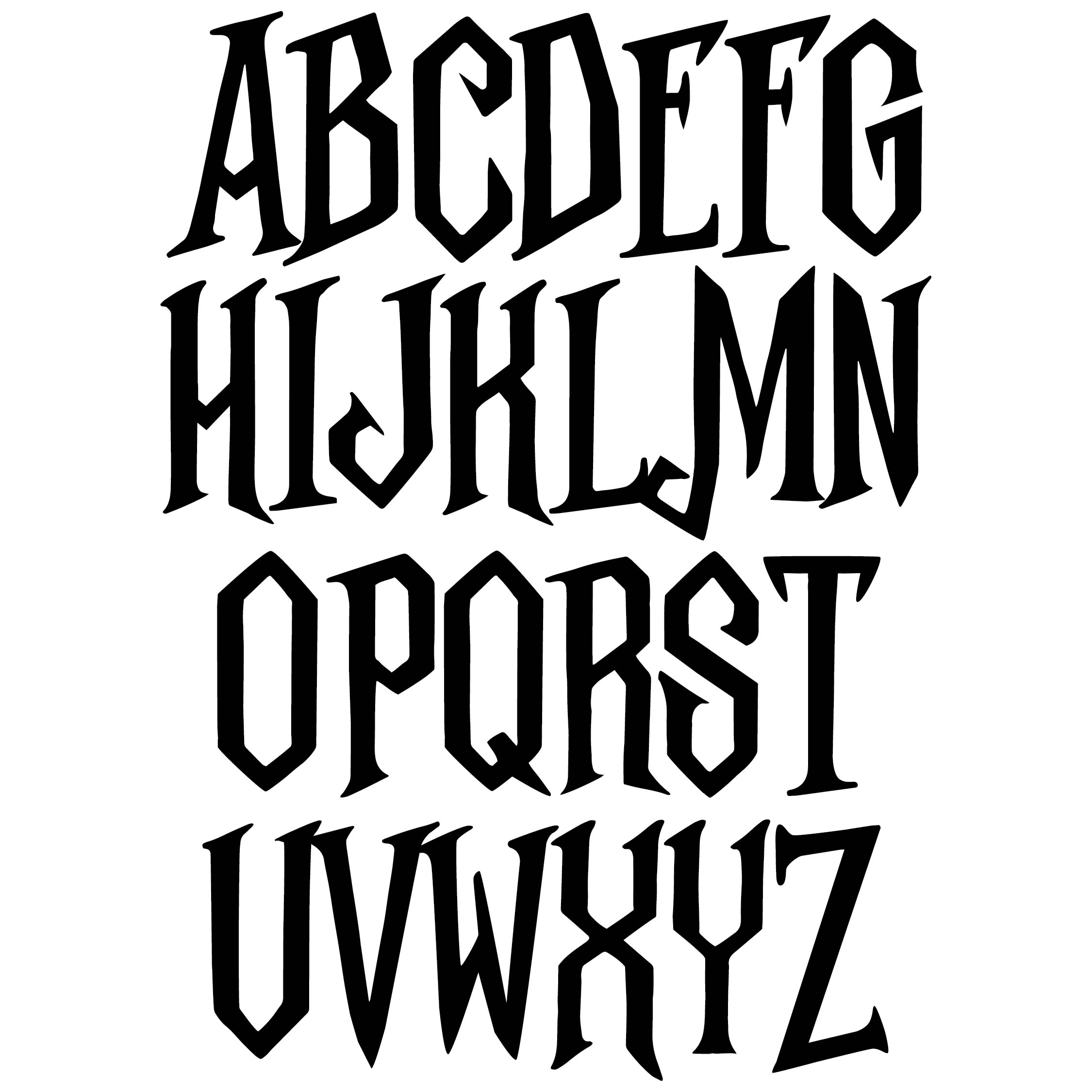 Scary Alphabet Letters Templates
