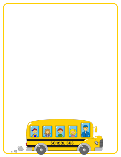 6 Images of Printable School Bus Border