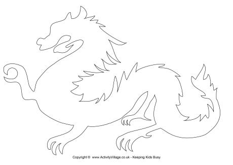 6 Images of Dragon Template Printable