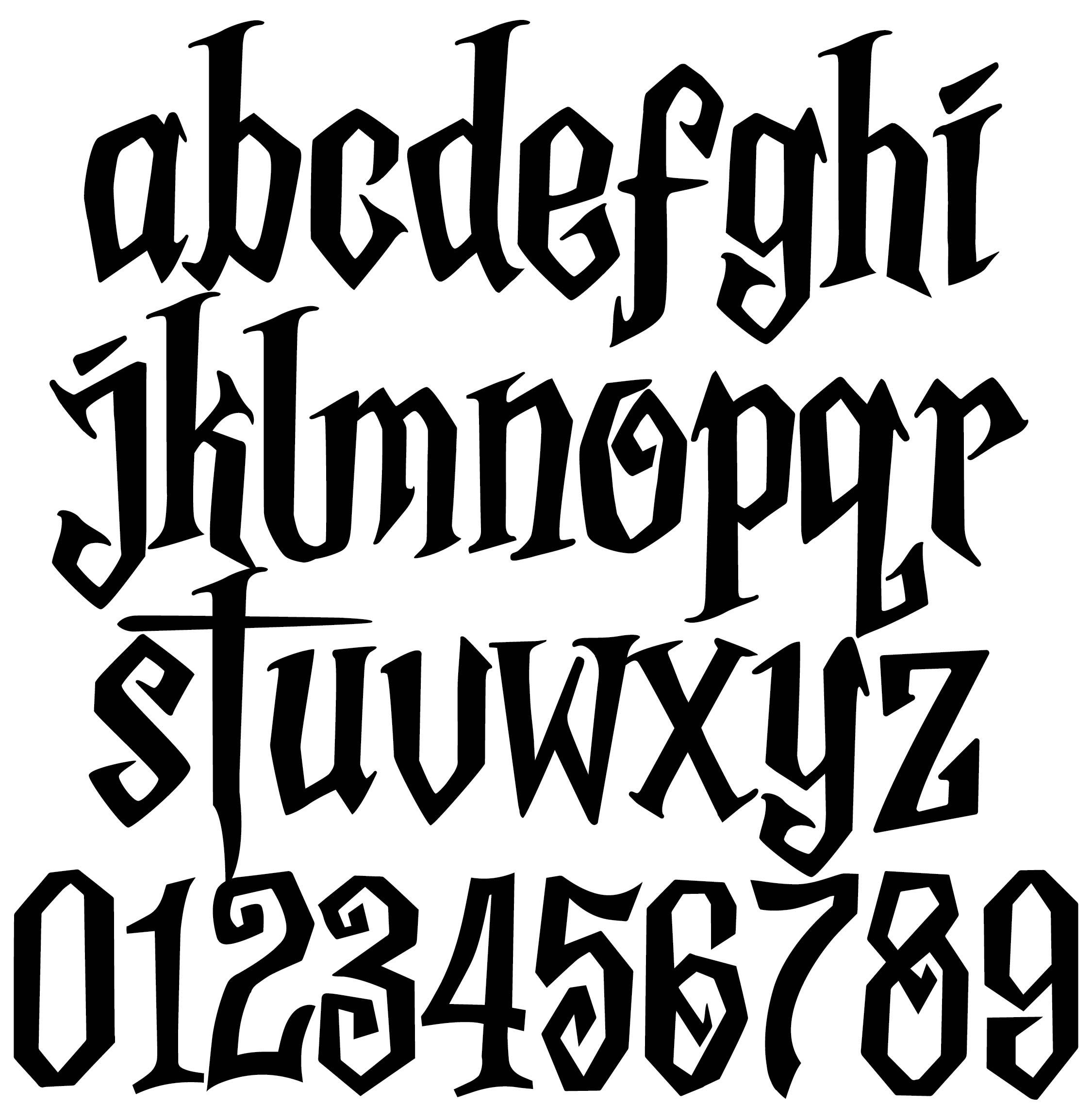 Spooky Halloween Alphabet Letters