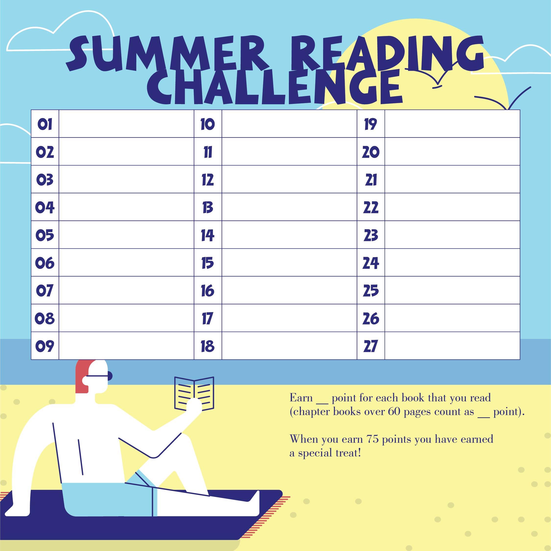 Summer Reading Challenge Charts
