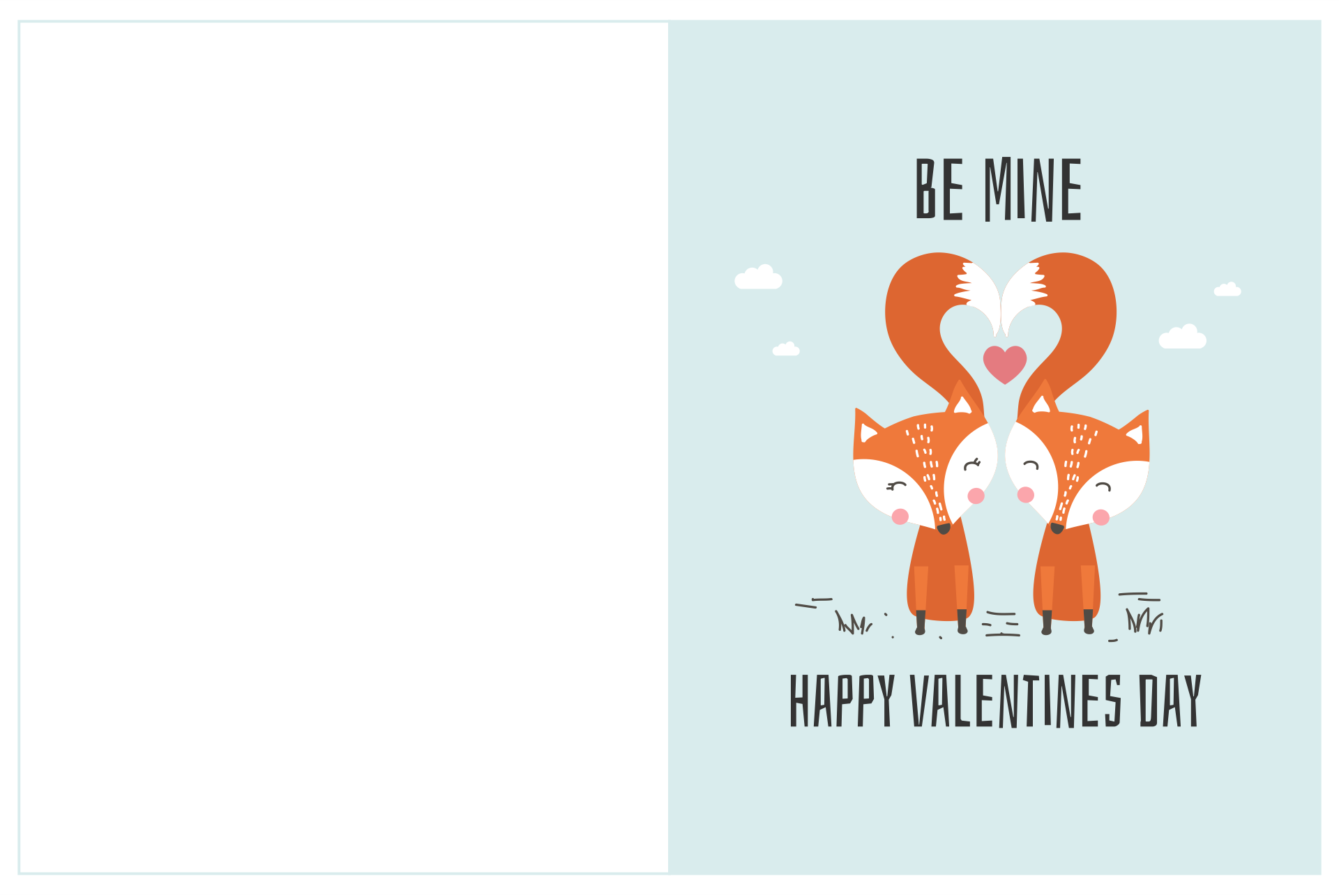 Valentines Day Card Templates Printable Free