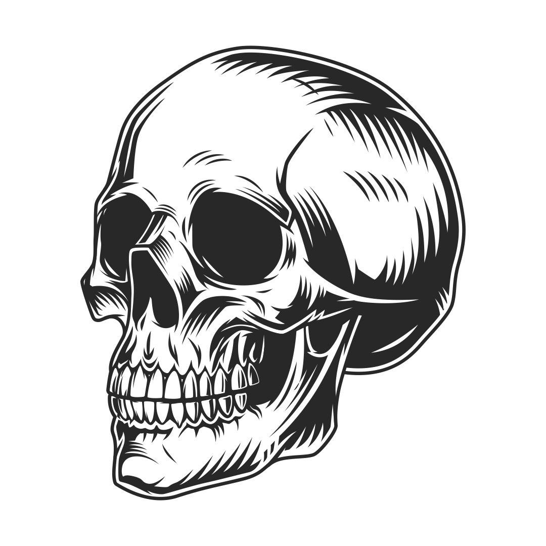 Vintage Halloween Skull Clip Art
