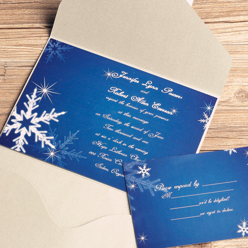 6 Images of Free Printable Winter Wedding Invitation Kits