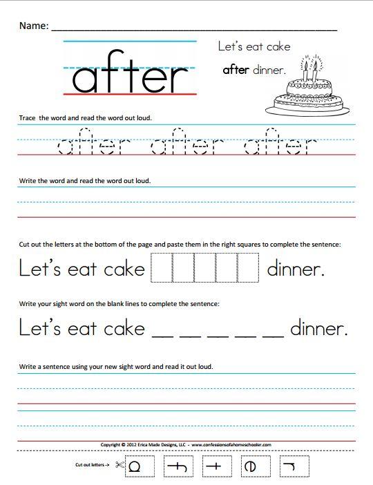 Number Names Worksheets sight word writing worksheets Free – Kindergarten Sight Word Sentences Worksheets