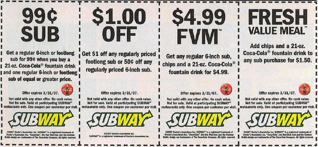 6 Images of Printable Subway Menu Canada