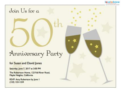 5 Images of 50th Anniversary Invitations Free Printable