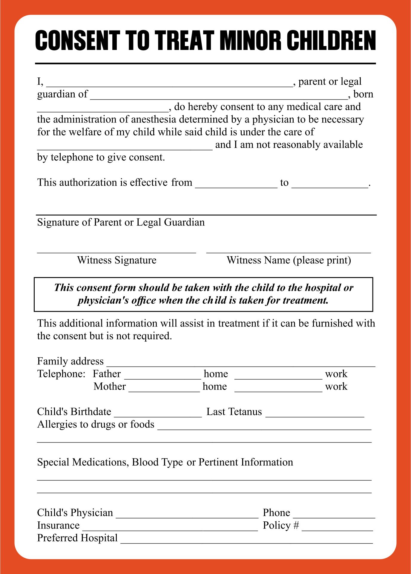 medical release form for babysitters info 4 best images of printable babysitter medical release form