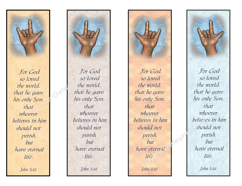 Bible Verse Printable Bookmarks