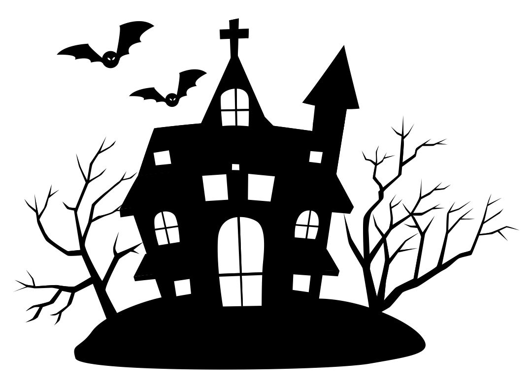 Black and White Halloween Clip Art