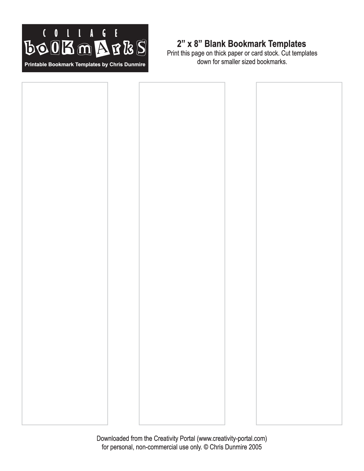5 Images of Blank Bookmark Templates Printable