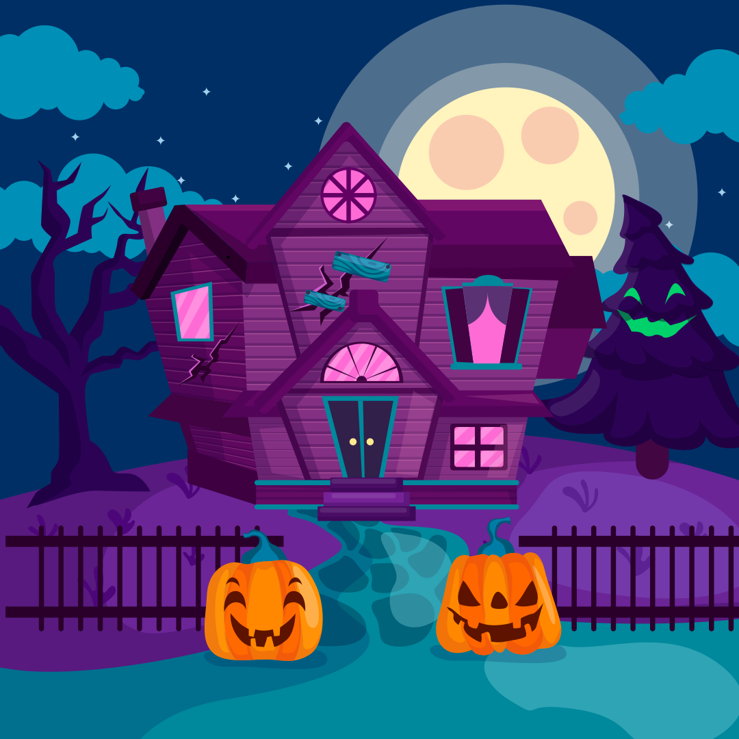 Cartoon Haunted House Clip Art