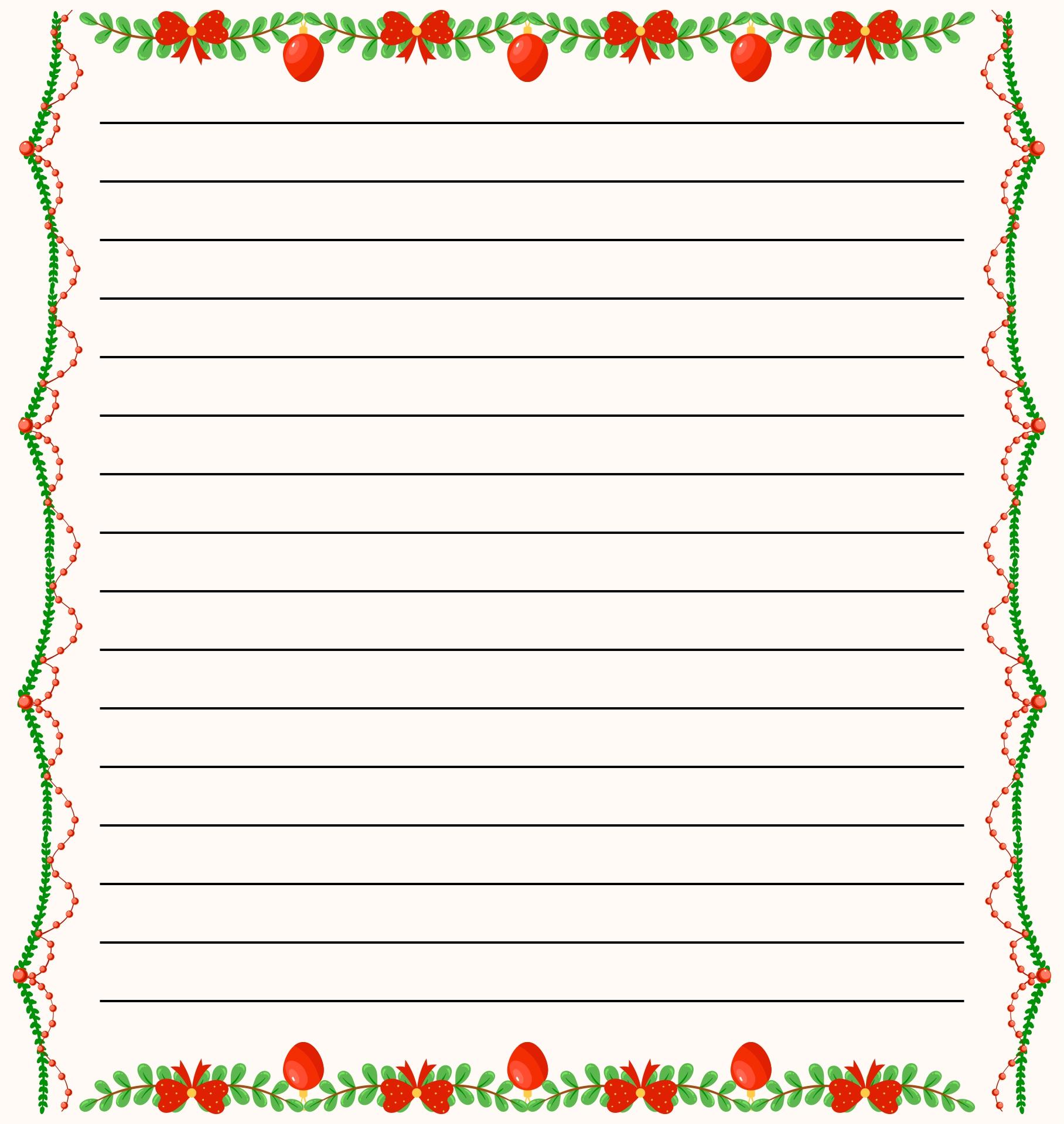 Christmas Border Letter Paper