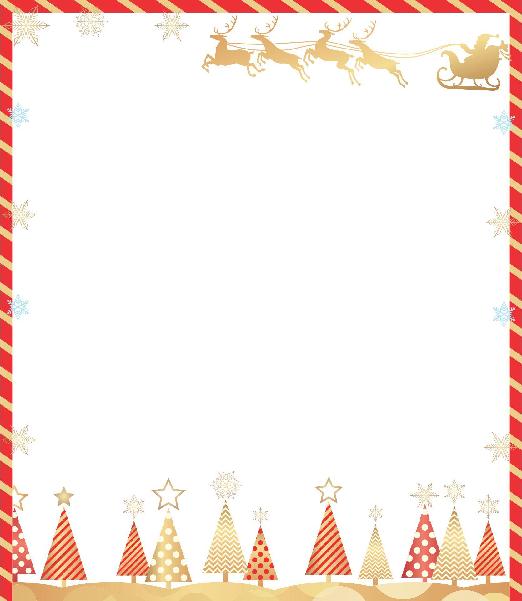 Christmas Flyer Borders Template