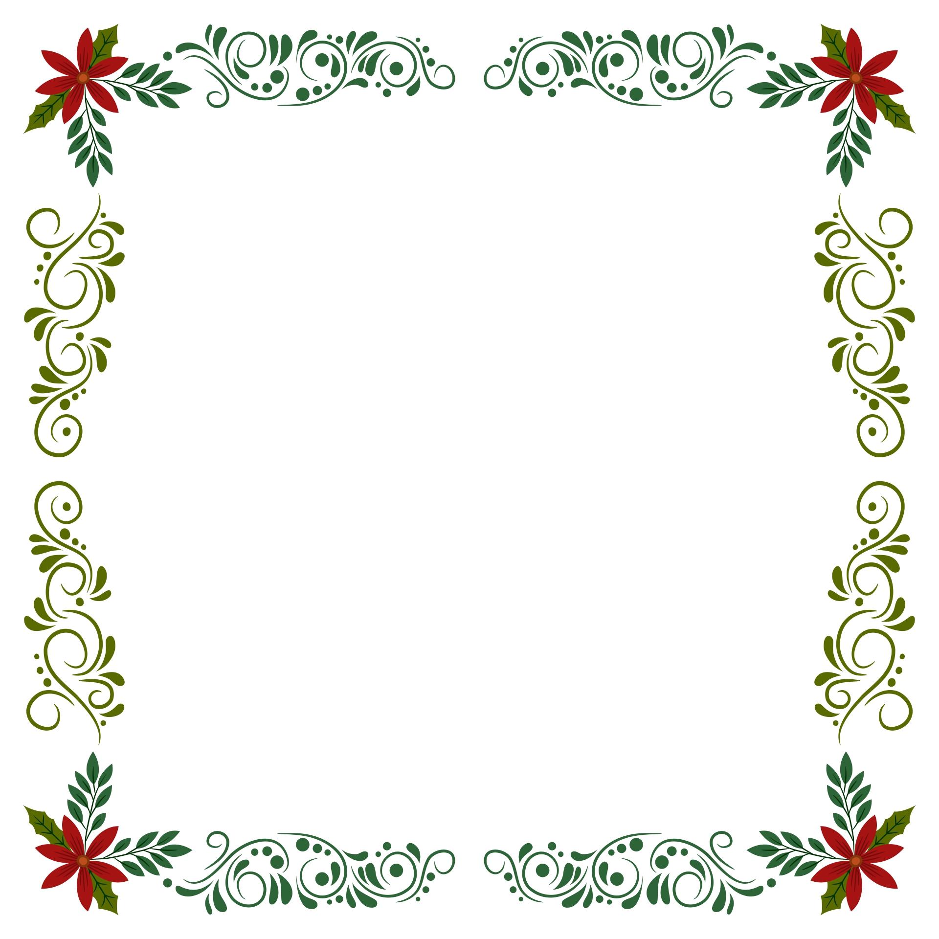 Christmas Holly Border Free Clip Art