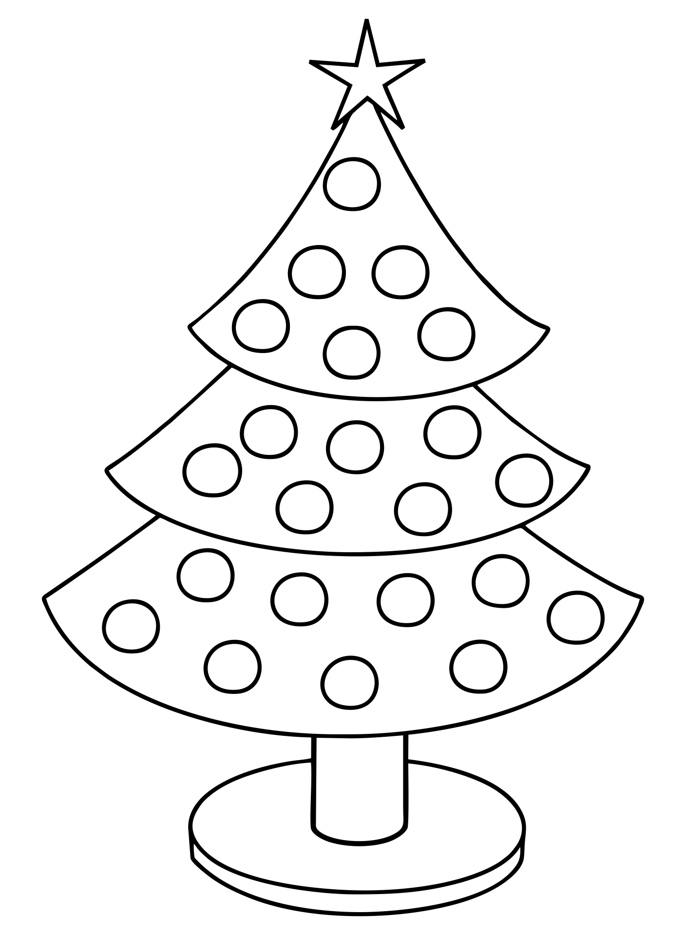 5 Images of Printable Christmas Tree Craft