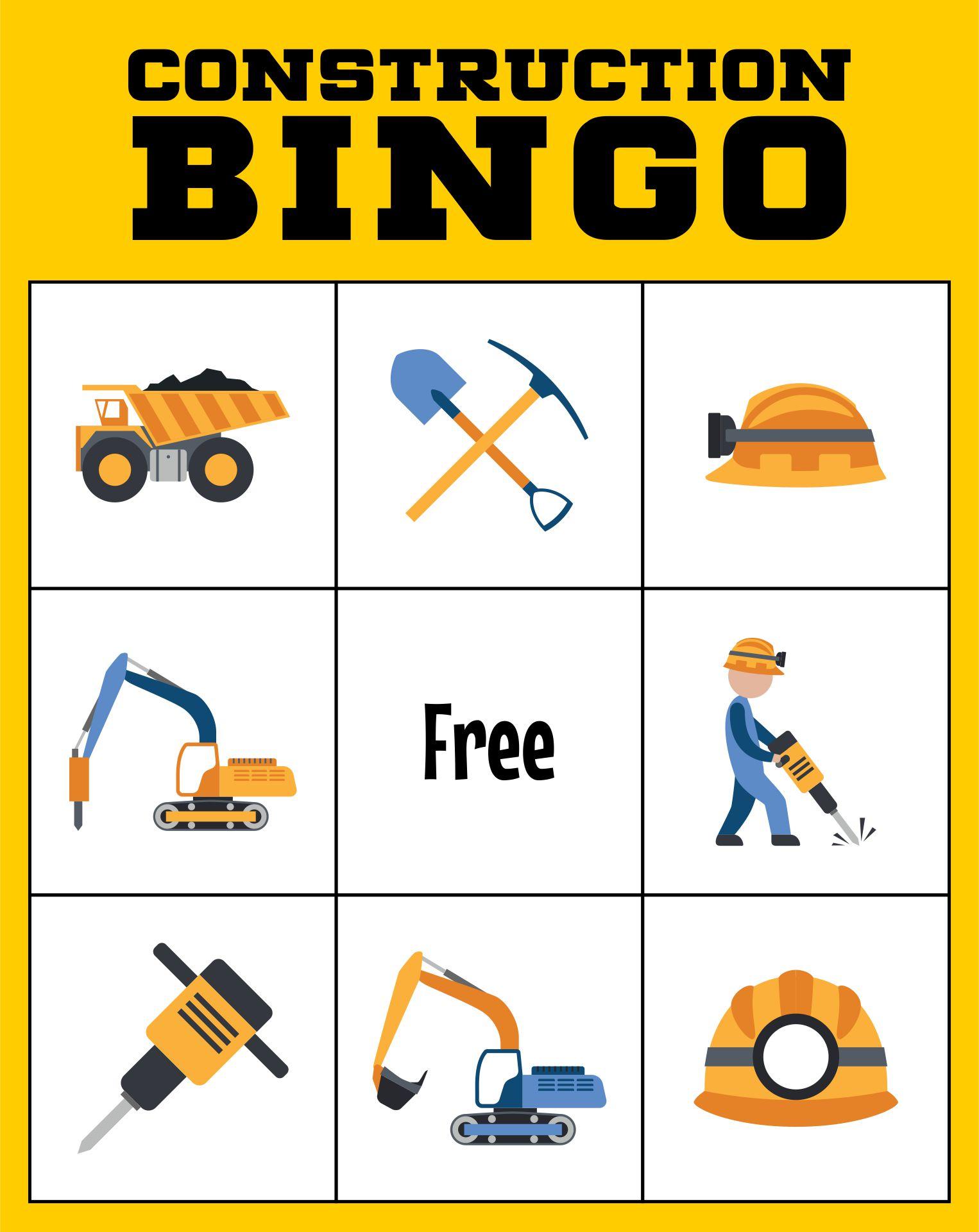 Construction Bingo Game