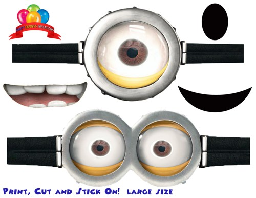 8 Images of Printable Minion Goggles For Bags