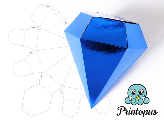 5 Best Images Of 3D Paper Diamond Template Printable