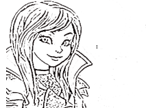 disney descendants mal coloring pages - 5 best images of descendants coloring pages printable
