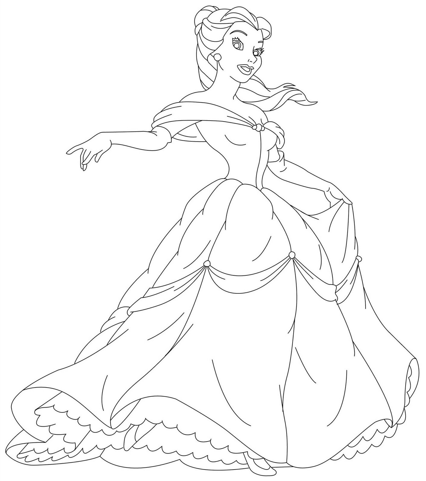 5 Images of Printable Princess Coloring Pages Online