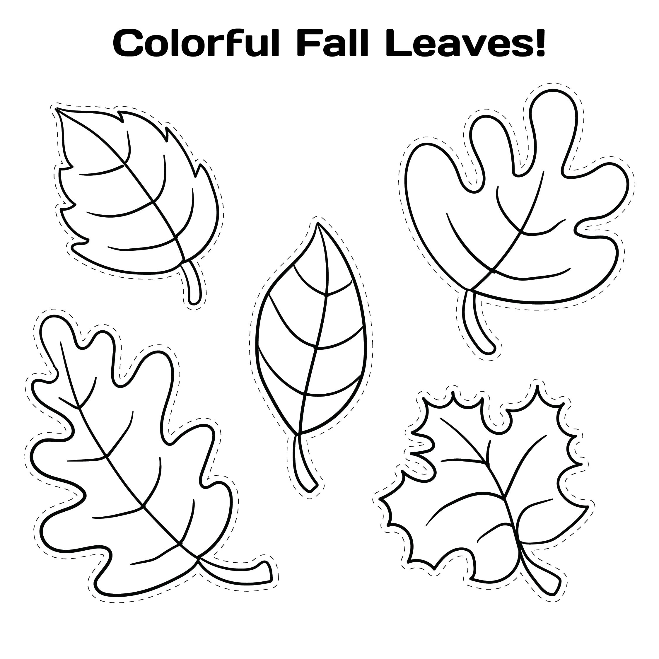 Fall Leaves Templates Printable