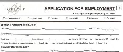 forever-21-printable-job-application-form_380027 Job Application Form For Walmart Pdf on basic employment application pdf, fill out application pdf, printable job applications pdf, general employment application pdf, walmart resume pdf, costco application pdf,