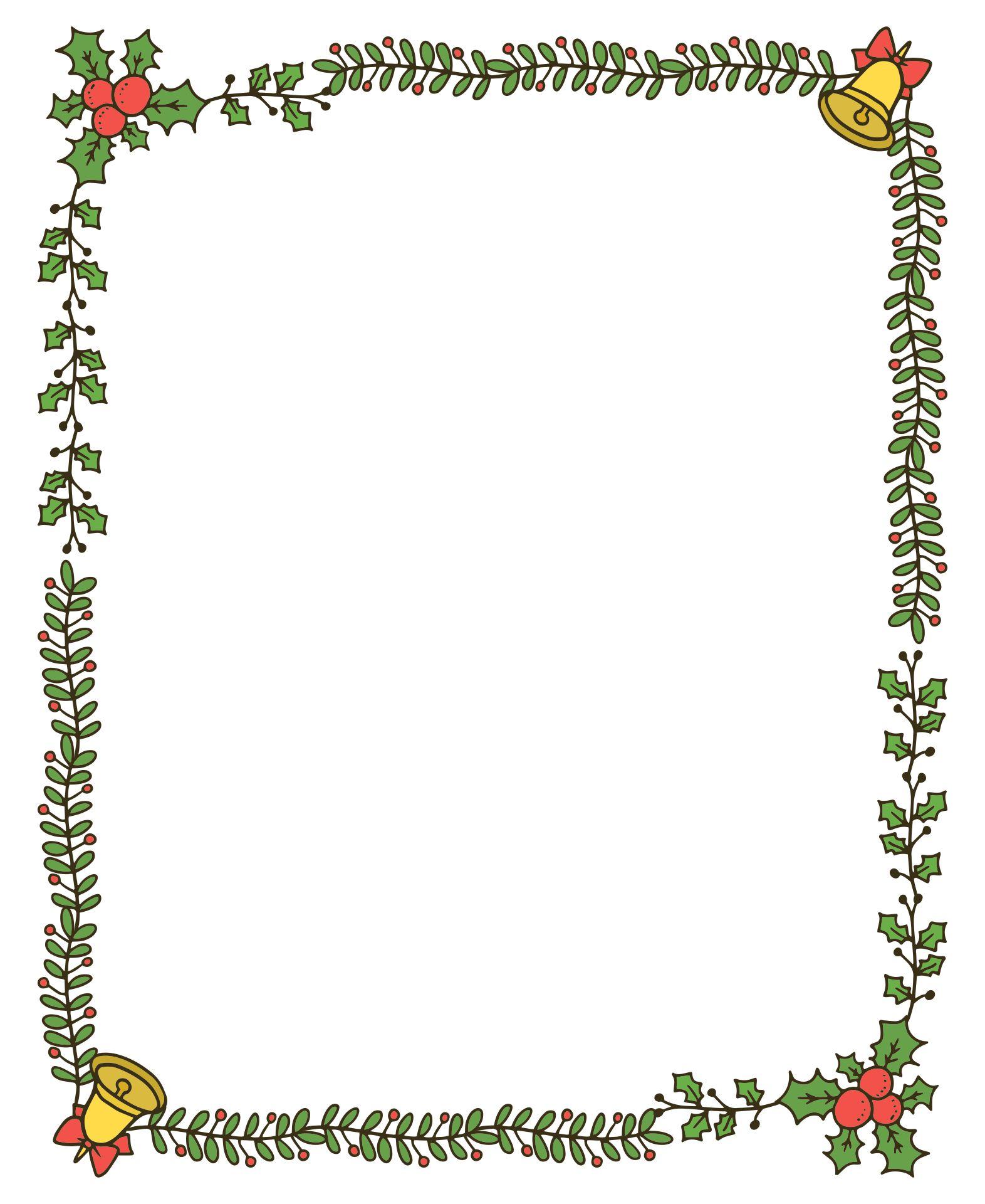 Free Christmas Invitation Borders