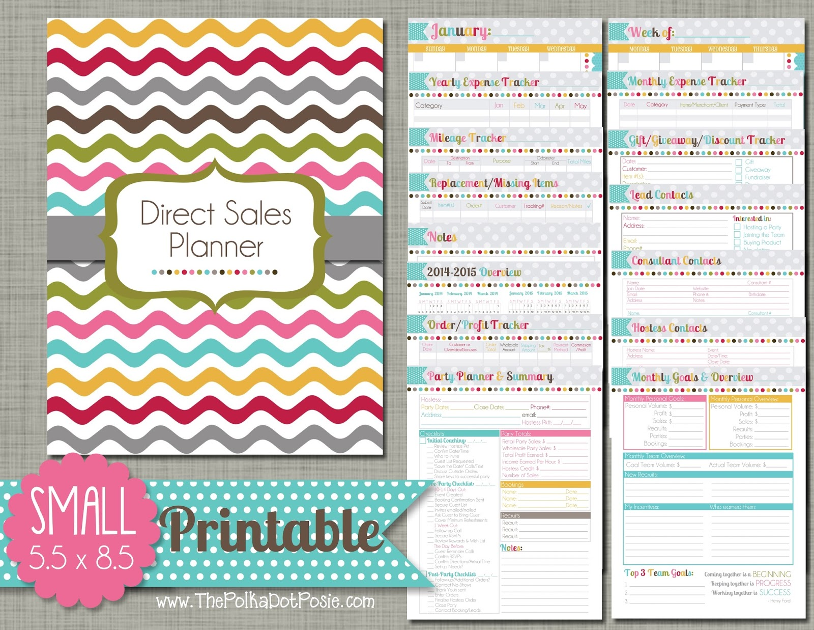 5 Images of Free Printable Business Planner Pages