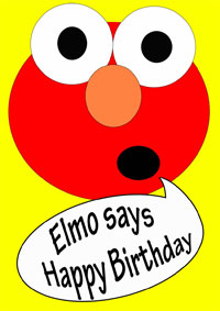 7 Images of Elmo Printable Birthday Cards
