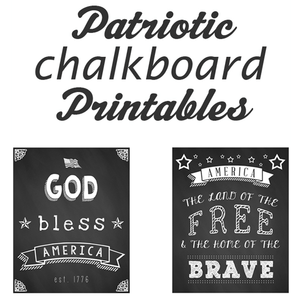 6 Images of 4th Of July Chalkboard Printables