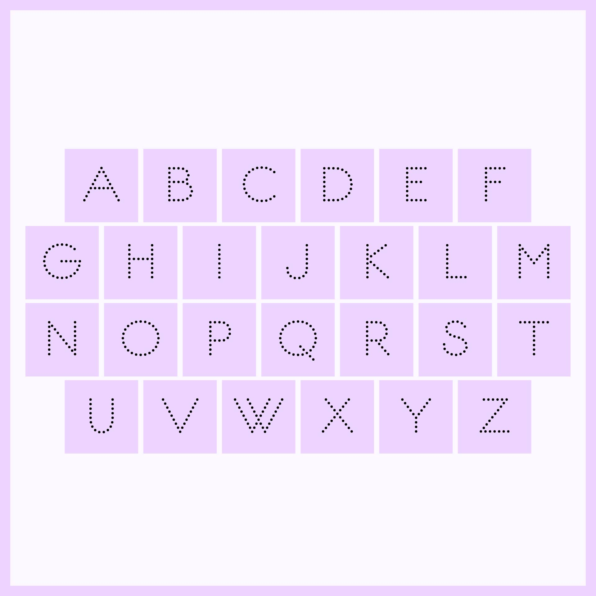 Printable Alphabet Tracing Letters