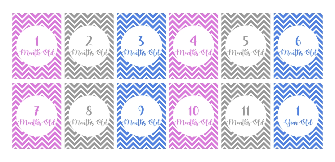 9 Images of Free Printable Baby Monthly Signs