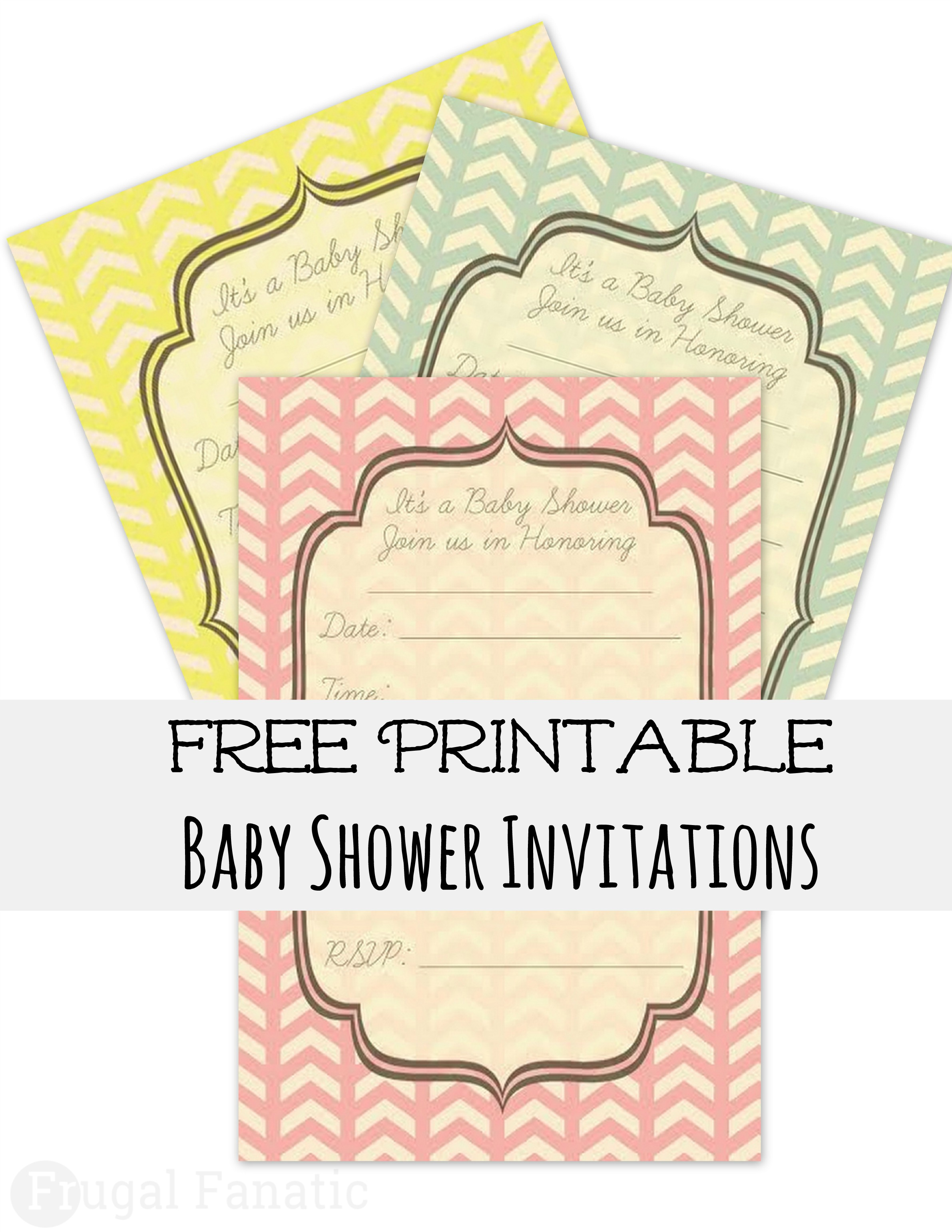 7 Images of Free Printable Baby Shower Inv