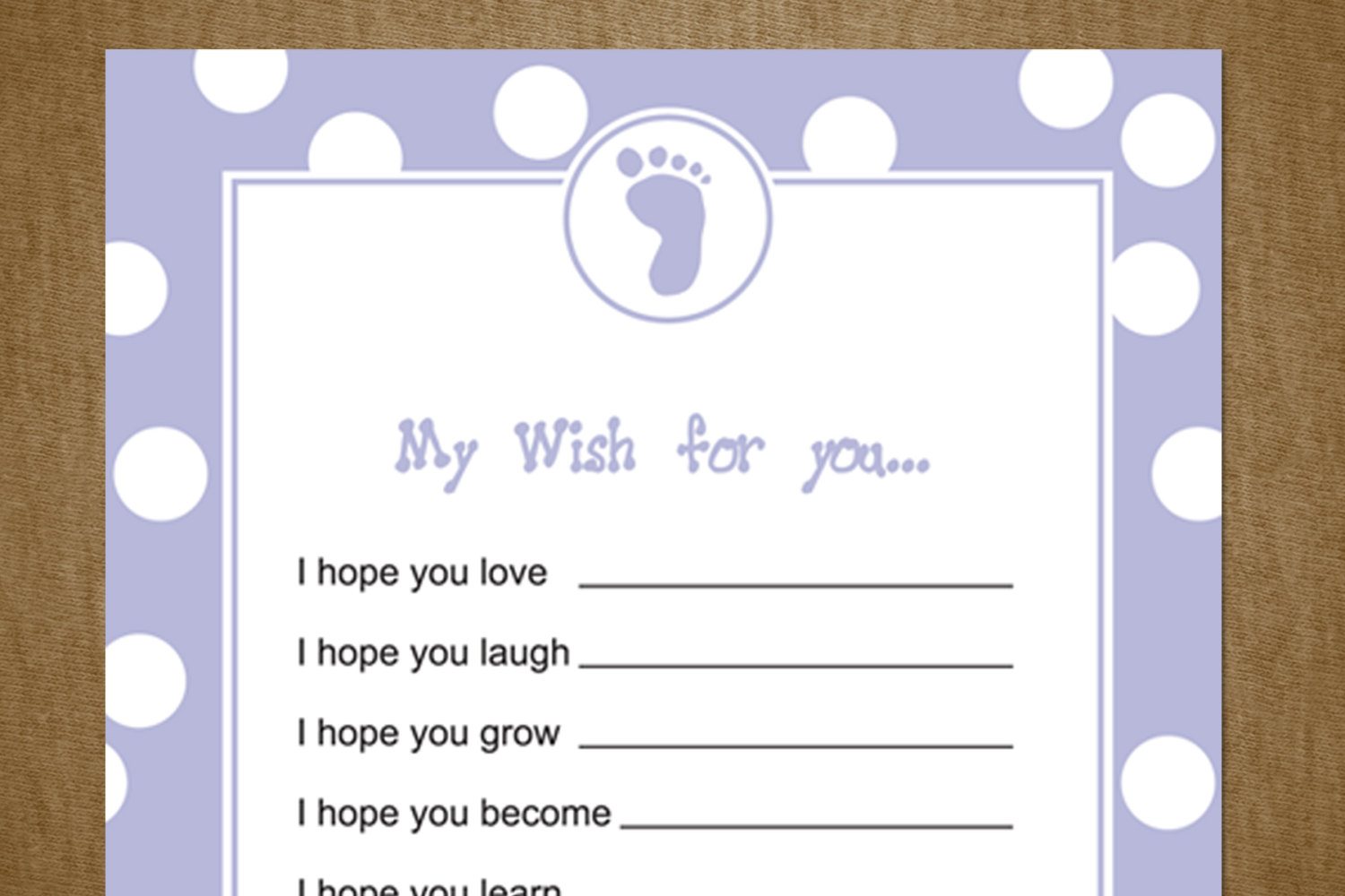 5 best images of printable baby shower wishes free printable baby shower wishes free. Black Bedroom Furniture Sets. Home Design Ideas