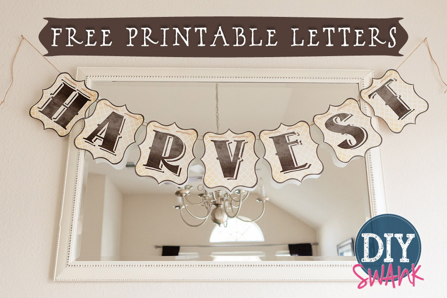 6 Images of Printable Banner Alphabet