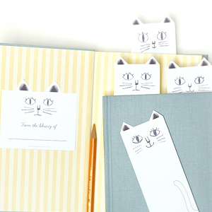 8 Images of Cat Bookmarks By Mr Printables