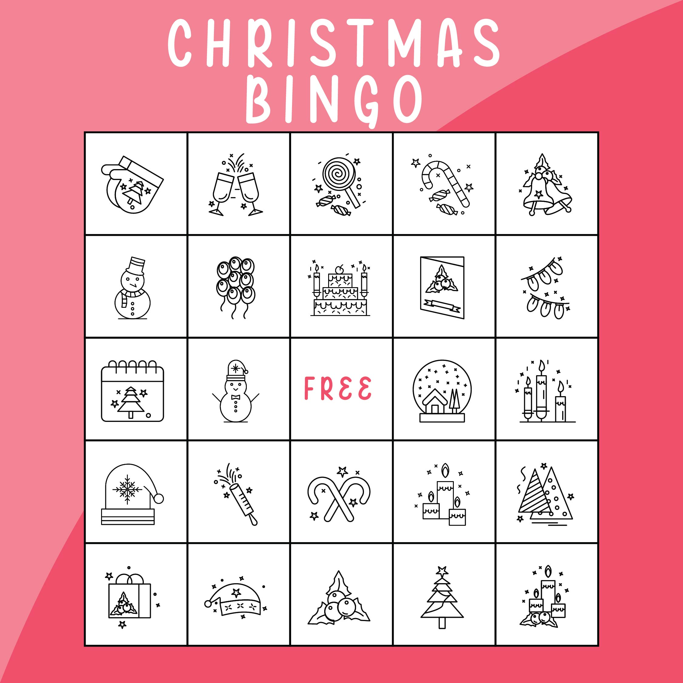 9 Images of Free Printable Christian Christmas Bingo Cards