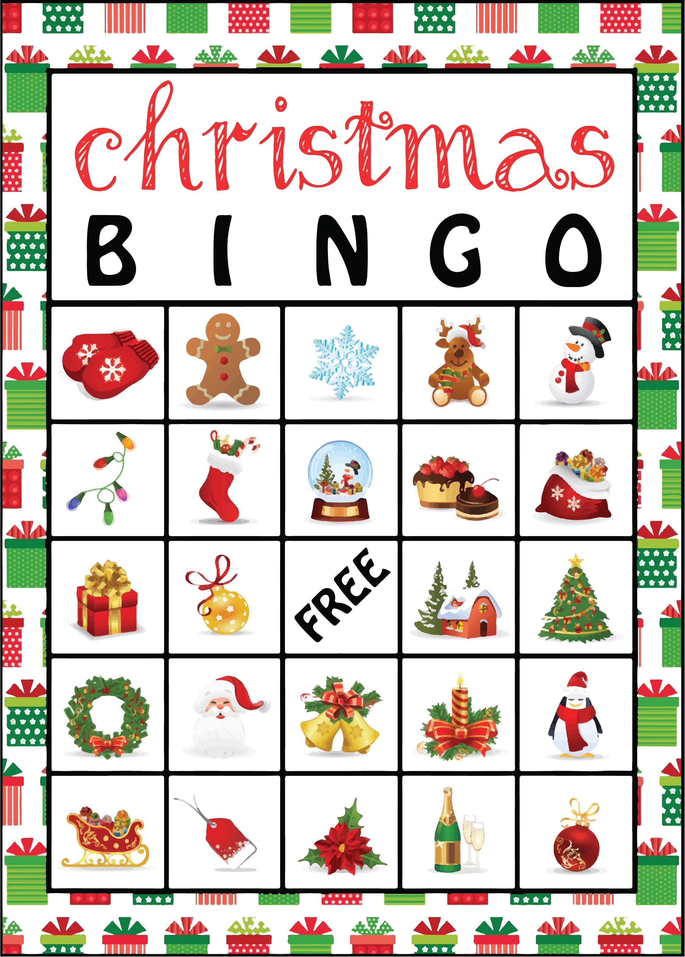 Printable Christmas Bingo Game