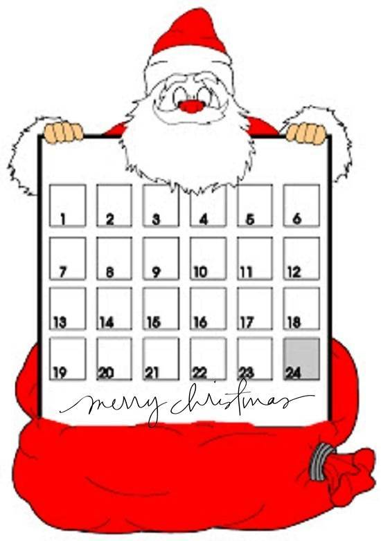 Free Printable Christmas Countdown Calendar 2014