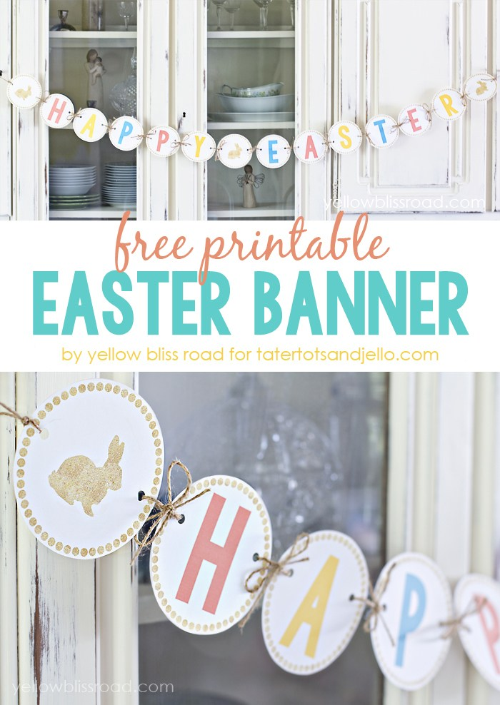 4 Images of Happy Easter Banner Printable