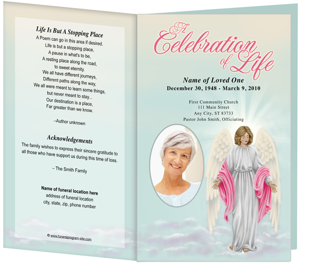 6 best images of free printable funeral memorial card for Free funeral program template